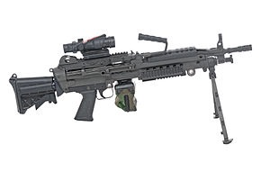 File:M249 in real life, also with a scope attached to it..jpg