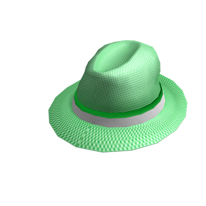 File:Checkered Neon Green Fedora.png