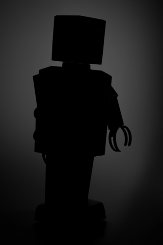 File:Robot silhouette.png