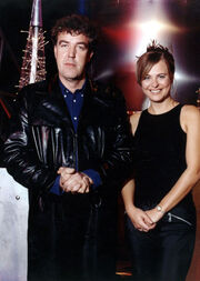 Philippa Forrester and Jeremy Clarkson