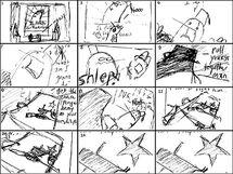 Rocketbirds Cutscene Sketch
