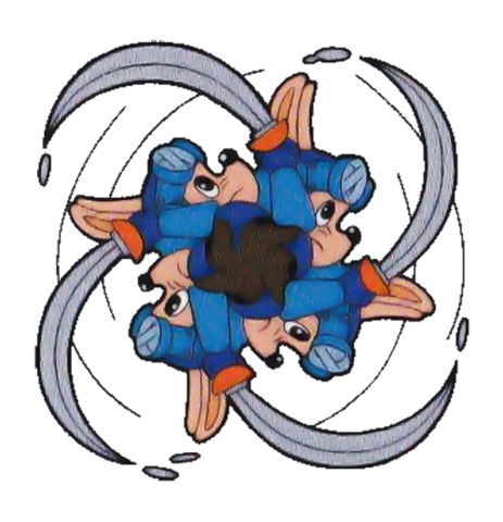 File:Sparkster (Rocket Knight Adventures Spinning Sword Attack -Burst Vortex- Artwork).png