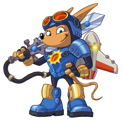 File:Sparkster (Rocket Knight 2010 Official Artwork PNG).png