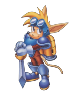 Sparkster (Sparkster- Rocket Knight Adventures 2 Official Artwork 3)