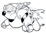 Sparkster (Rocket Knight Adventures Sparkster Flying Europe Manual Line Artwork)
