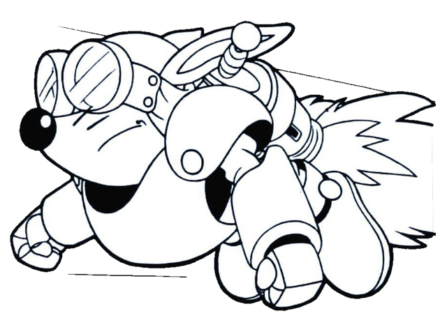 File:Sparkster (Rocket Knight Adventures Sparkster Flying Europe Manual Line Artwork).png
