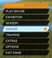 Main menu - Garage