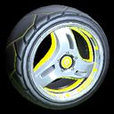 Triplex wheel icon saffron