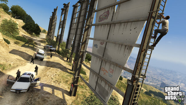 File:Trevor Climbing Vinewood and Missing the Cops.jpg