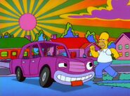 Benny the Cab on The Simpsons Roger Rabbit parody