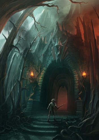 Fire Cave Entrance Concept by ANTIFAN REAL