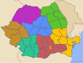 Harta regiunilor de dezvoltare din România