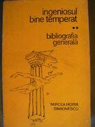 Mirceahoriasimionescu bibliografiagenerala