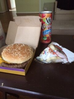 File:The quarter pounder with cheese with Apple slices and v8 fusion.jpg