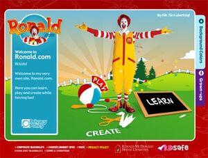 Ronald.com main page