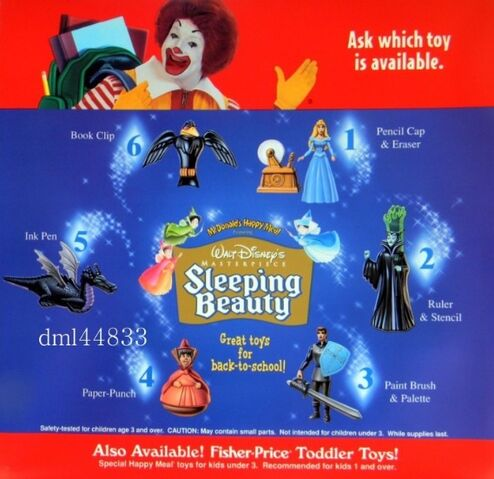 File:McDonald'sHappyMealSleepingBeautyBack-To-SchoolToys.jpg