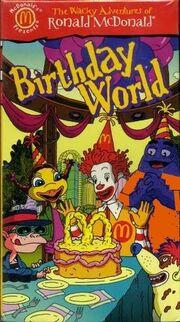 The Wacky Adventures of Ronald McDonald Birthday World