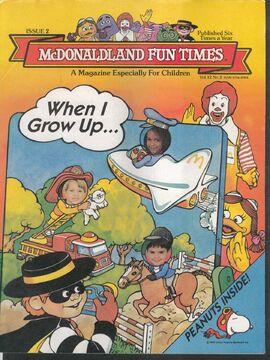 McDonald Fun Times Kids Magazine
