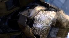 Cracked-visor