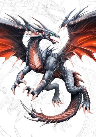 File:Dragon negro de alas rojas y by el grimlock.jpg