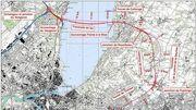 Traversée du lac à Genève - Plan