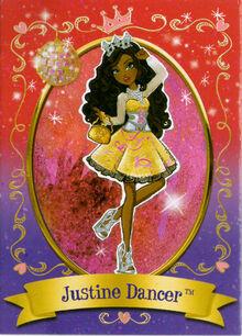 Justine Dancer Diary Card