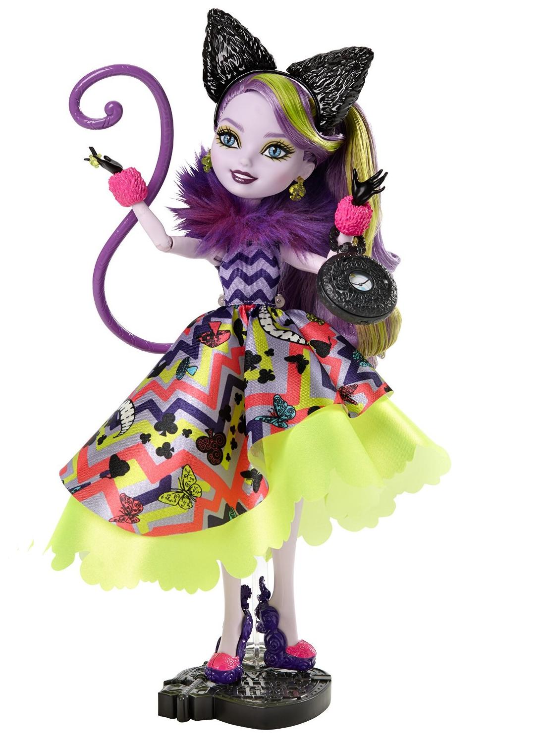 Ever After High Toys R Us : Image kitty cheshire way too wonderland doll with stand