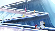 EW - ICQ - Cinderella castle zig zag escalator