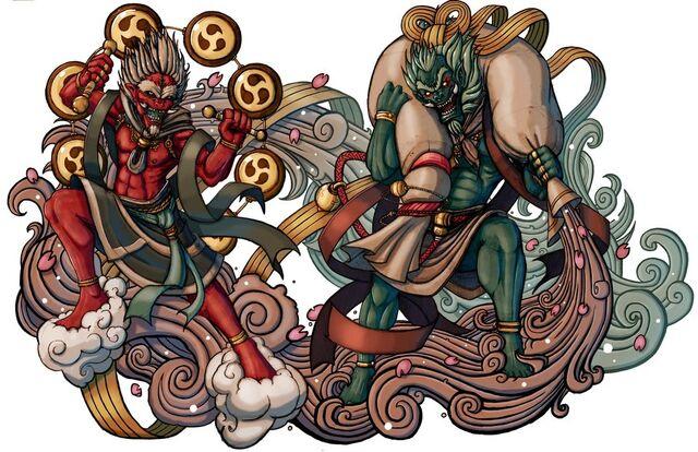 File:Demon gods fujin and raijin by elbrazo-d3khwa3.jpg
