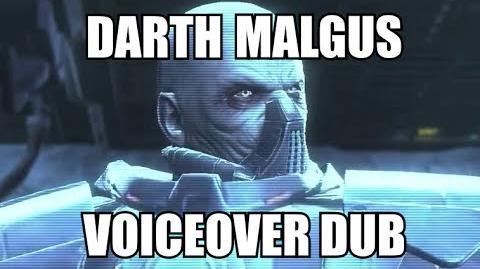 Darth Malgus (Voiceover Dub)