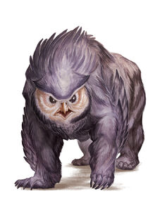 Monster Manual 5e - Owlbear - p249