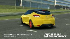 Yellow Megane RS 275 Trophy-R Back