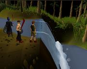 Thorlak, Sander, & Dion at jungle waterfall
