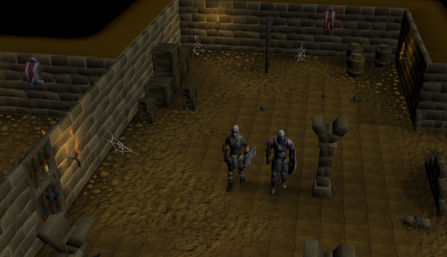 File:The guards down in the Draynor Manor Basement..png