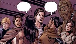 Lando and gang in Evolution