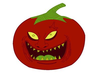 Evil tomato by jv9ufxcy on DeviantArt