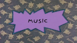 Music title card