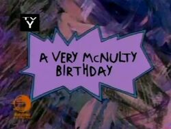 A Very McNulty Birthday Title Card