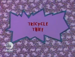 Tricycle Thief Title Card