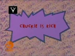 Rugrats Chuckie Is Rich