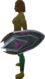 Salve shield equipped