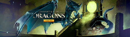 Adamant and Rune Dragons head banner
