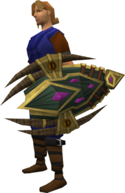 Celestial shield equipped