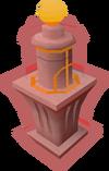 Heat globe pedestal