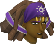 Modified diviner's headwear chathead (female)