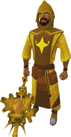 Golden Akrisae the Doomed's equipment (male) equipped