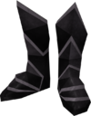Black boots detail