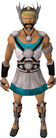 Silver athlete's outfit set equipped