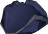 Blue tricorn hat detail