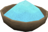 Blue powder detail